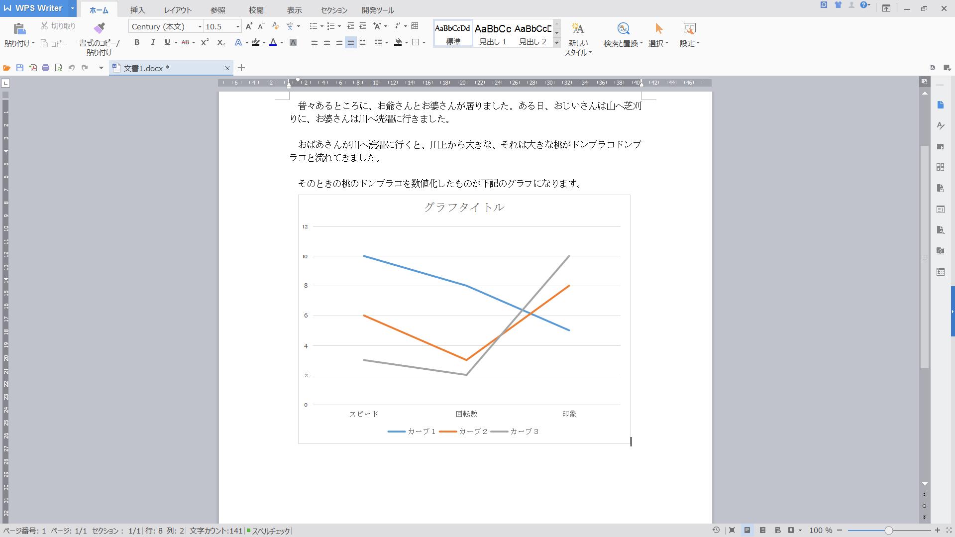 グラフ挿入