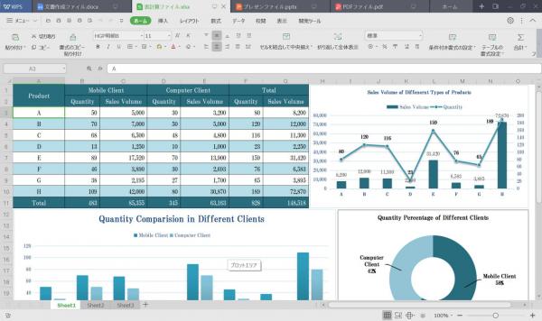 WPS Office 2 for Windows オールインワンモード