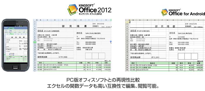 キングソフト、オフィスソフトの最新版「KINGSOFT Office for Android 4.4」公開 スマホで利用