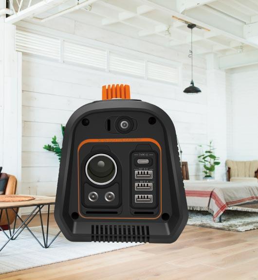 家庭内での非常電源としても利用可能