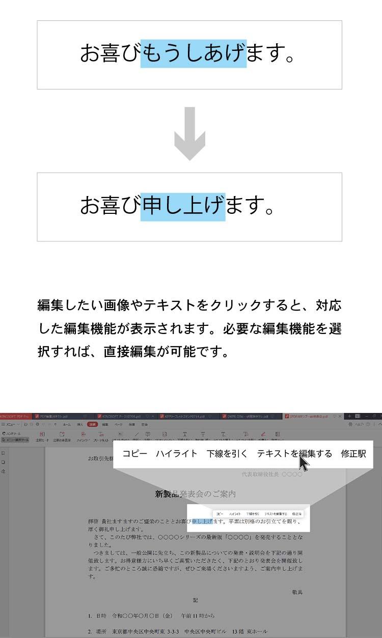 KINGSOFT PDF Pro-直接編集